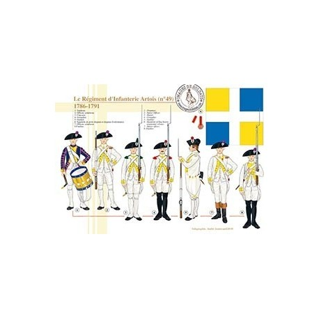 Le régiment d'infanterie Artois (n°49), 1786-1791