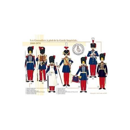 Les Grenadiers à pied de la Garde Impériale, 1860-1870