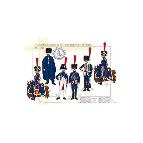 L'Artillerie à Cheval de la Garde Impériale, Officiers, 1804-1815