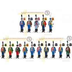 Les distinctives des régiments de Hussards, 1808-1810