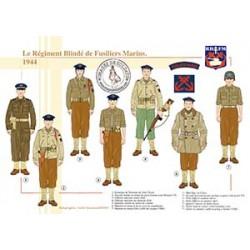 Le Régiment Blindé de Fusiliers marins, 1944