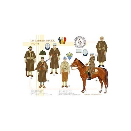 Les Goumiers du CEF, 1943-1944