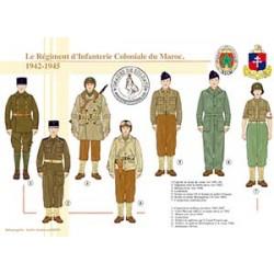 Le Régiment d'Infanterie Coloniale du Maroc, 1942-1945