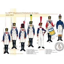 Le 30ème régiment d'infanterie de ligne, 1810-1813