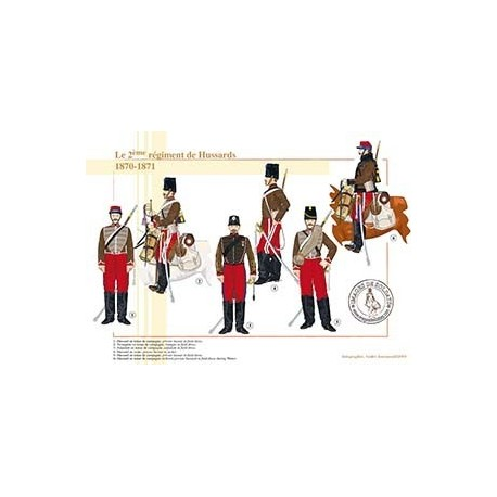 Le 2ème régiment de Hussards, 1870-1871