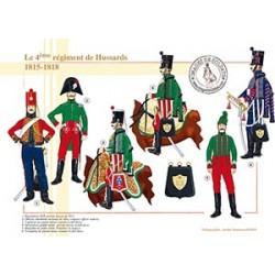 Le 4ème régiment de Hussards, 1815-1818