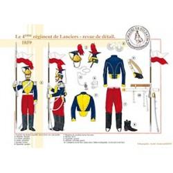 Le 4ème régiment de Lanciers, revue de détail, 1859