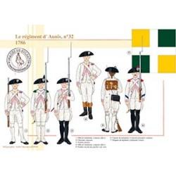 Le régiment d'Aunis n°32, 1786