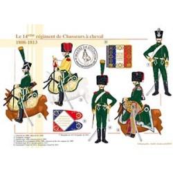 Le 14ème régiment de Chasseurs à cheval, 1808-1813