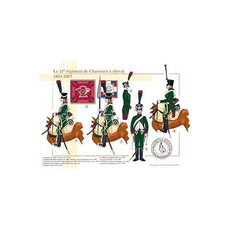 Le 11ème régiment de Chasseurs à cheval, 1803-1807