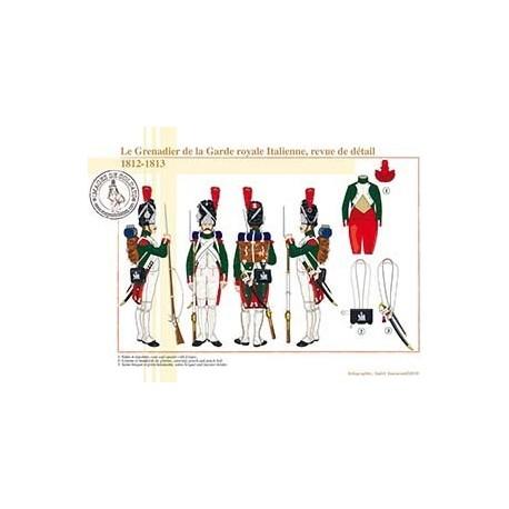 Le Grenadier de la Garde royale Italienne, revue de détail, 1812-1813