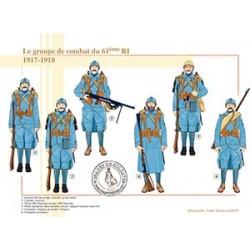 Le groupe de combat du 61e RI, 1917-1918