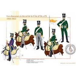 Les chasseurs à cheval de la Côte d'Or n°8, 1816-1822
