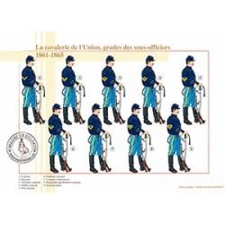 La cavalerie de l'Union, grades des sous-officiers, 1861-1865