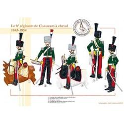Le 8ème régiment de Chasseurs à cheval, 1843-1854