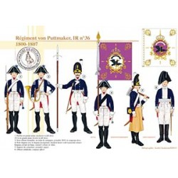 Régiment von Puttmaker, IR n°36, 1800-1807