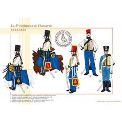 Le 5ème régiment de Hussards, 1813-1815