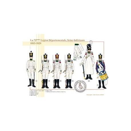 La 75ème Légion Départementale, Seine-Inférieure, 1815-1820