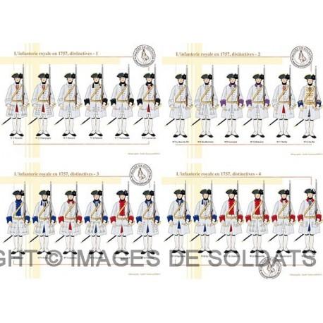 L'infanterie royale en 1757, distinctives (1/2)