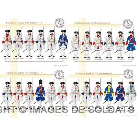 L'infanterie royale en 1757, distinctives (2/2)