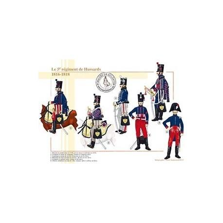 Le 5ème régiment de Hussards, 1816-1818