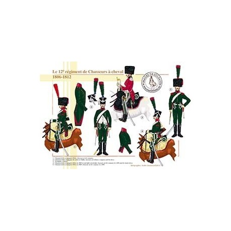 Le 12ème régiment de Chasseurs à cheval, 1806-1812