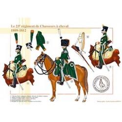 Le 23ème régiment de Chasseurs à cheval, 1809-1812