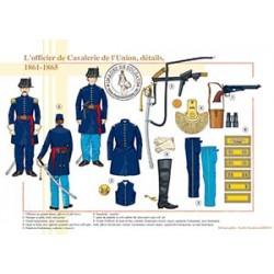 L'officier de Cavalerie de l'Union, détails, 1861-1865