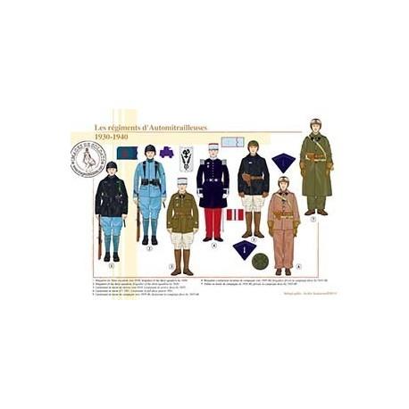 Les régiments d'Automitrailleuses, 1930-1940