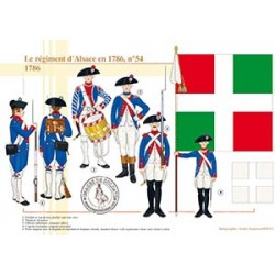 Le régiment d'Alsace n°54 en 1786
