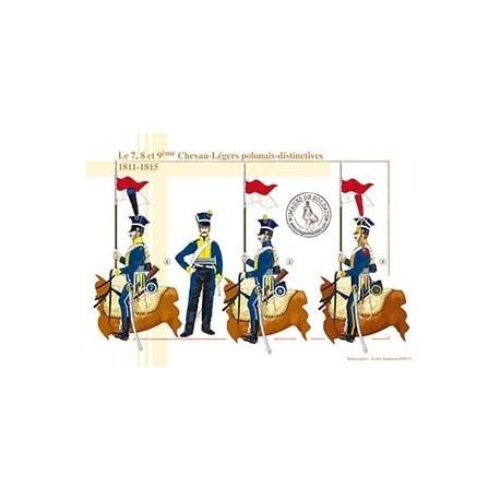Le 7, 8 et 9ème Chevau-Légers polonais, distinctives, 1811-1815