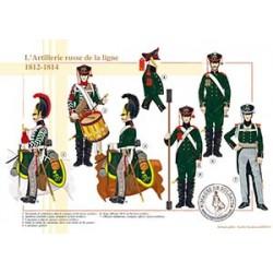 L'Artillerie russe de la ligne, 1812-1814