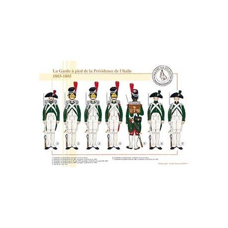 La Garde à pied de la Présidence de l'Italie, 1803-1805