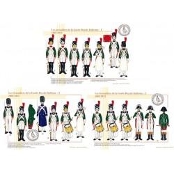 Les grenadiers de la Garde Royale Italienne, 1805-1812