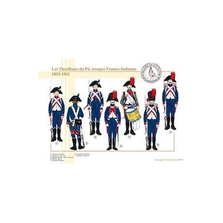 Les Tirailleurs du Pô, troupes Franco-Italienne, 1803-1811