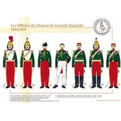 Les Officiers des Dragons de la Garde Impériale, 1854-1870