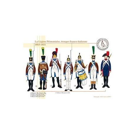 La Légion Piémontaise, troupes franco-italienne, 1803-1811