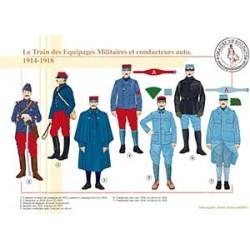 Le Train des Equipages Militaires et conducteurs auto, 1914-1918