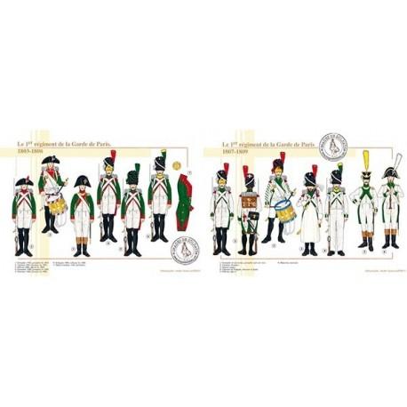 Le 1er régiment de la Garde de Paris, 1803-1809