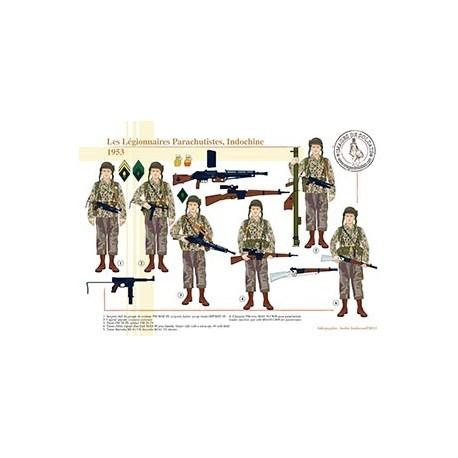 Les Légionnaires Parachutistes, Indochine, 1953