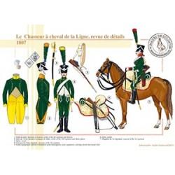 Le Chasseur à cheval de la Ligne, revue de détails, 1807
