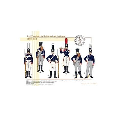 Le 1er régiment d'Infanterie de la Garde, 1808-1814