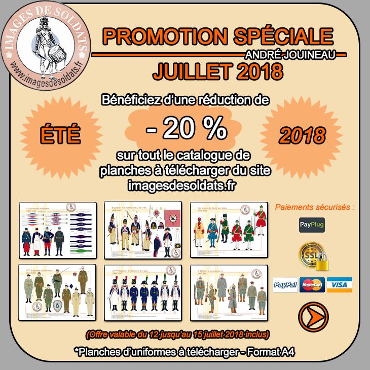Offre spéciale juillet 2018 : -20% sur le catalogue des planches d'uniformes à télécharger