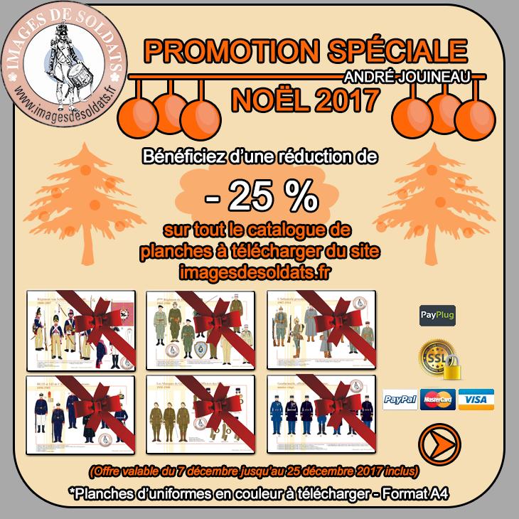 Offre spéciale Noël 2017 -25% sur le catalogue des planches d'uniformes à télécharger