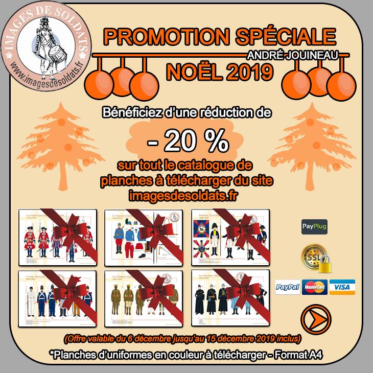 Offre spéciale Noël 2019 -20% sur le catalogue des planches d'uniformes à télécharger