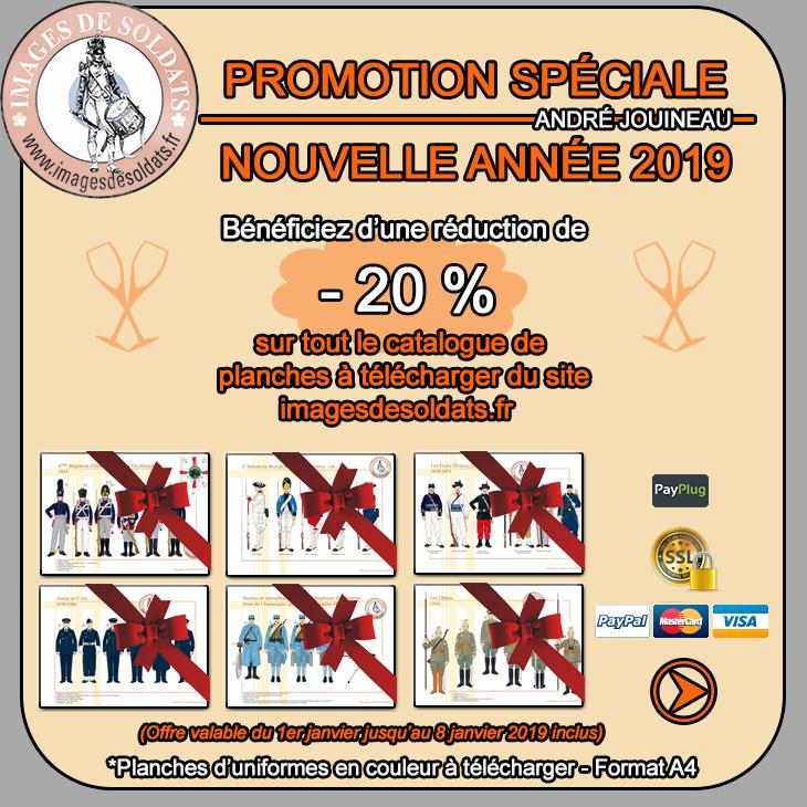 Offre spéciale Nouvel An 2019 -20% sur le catalogue des planches d'uniformes à télécharger