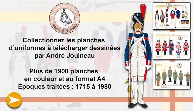 Les planches d'uniformes à télécharger d'André Jouineau