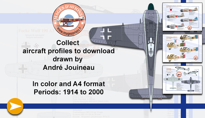 Military and civilian aircraft profiles of André Jouineau