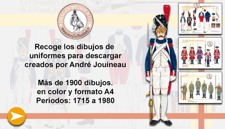 Dibujos de uniformes militares de André Jouineau
