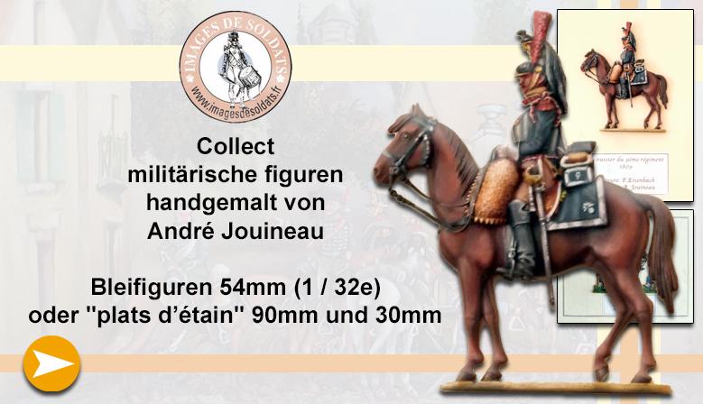 Militärfiguren gemalt von André Jouineau